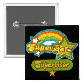 Superstar Supervisor 15 Cm Square Badge