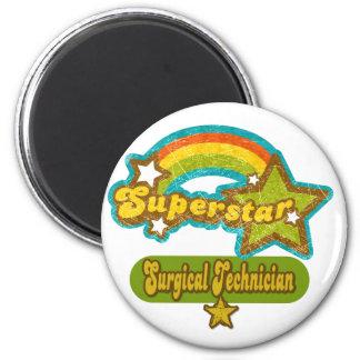 Superstar Surgical Technician 6 Cm Round Magnet