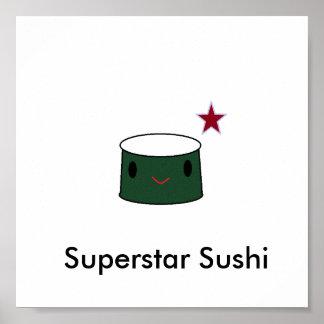 Superstar Sushi Poster
