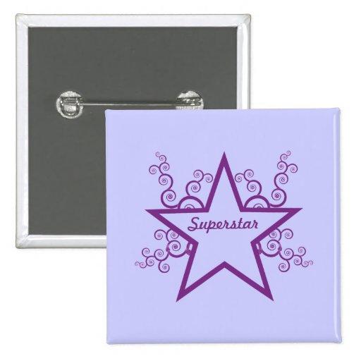 Superstar Swirls Button, Purple