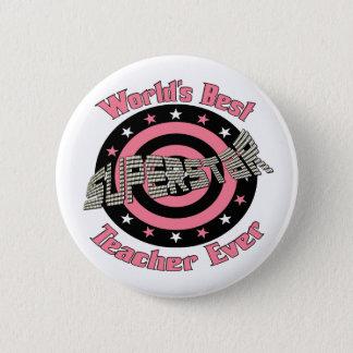 Superstar Teacher 6 Cm Round Badge
