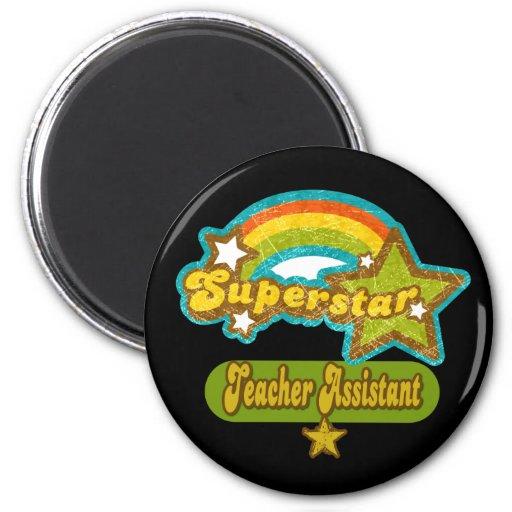 Superstar Teacher Assistant Refrigerator Magnets