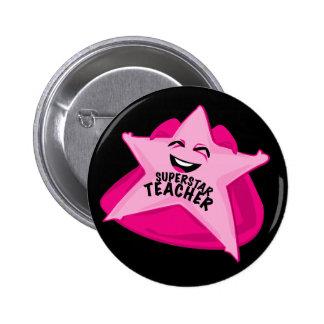 superstar teacher funny pin