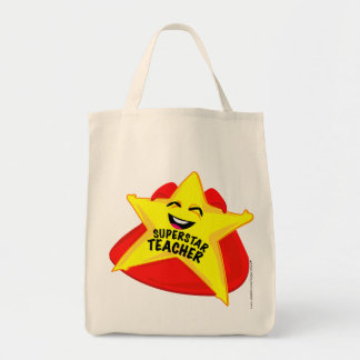 superstar Teacher humorous  bag! Grocery Tote Bag