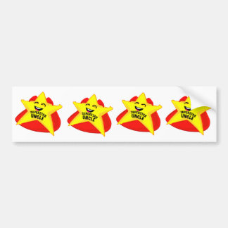 superstar uncle funny father's day bumper sticker