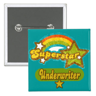 Superstar Underwriter 15 Cm Square Badge
