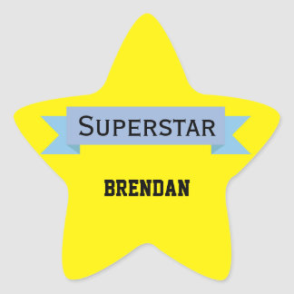 Superstar with Name Star Sticker