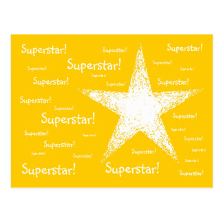 Superstar! | Yellow Postcard