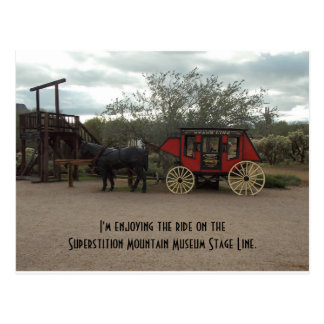 Superstition Mountain Museum Stage Line Post Card