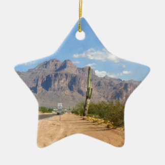 Superstition Mountain - Panoramic Christmas Ornament