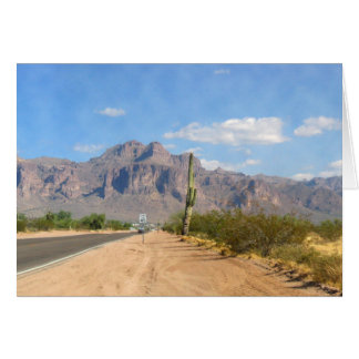 Superstition Mountain - Panoramic Greeting Card