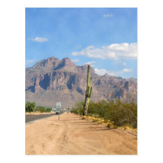 Superstition Mountain - Panoramic Postcard