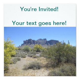 Superstition Mountains 13 Cm X 13 Cm Square Invitation Card