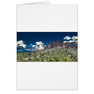Superstition Mountian Range Greeting Card