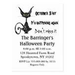 Superstitious Black Cat  Postcard invite