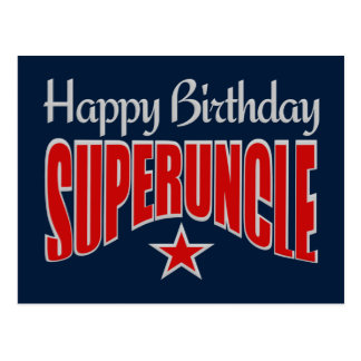 SUPERUNCLE Birthday postcard