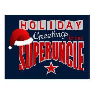 SUPERUNCLE Holiday postcard