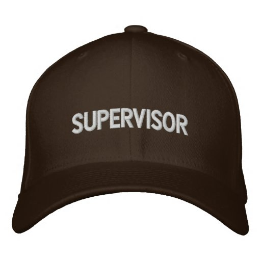 Supervisor Embroidered Hats