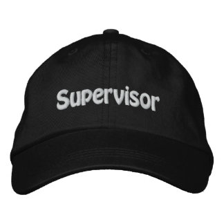 Supervisor Embroidered Hat