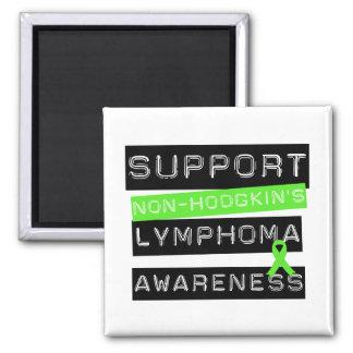 Suport Non-Hodgkin's Lymphoma Awareness Square Magnet