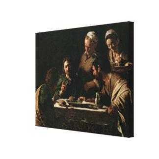 Supper at Emmaus, 1606 Canvas Print