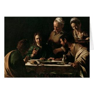 Supper at Emmaus, 1606 Greeting Card