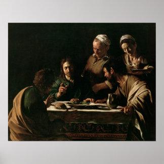 Supper at Emmaus, 1606 Poster