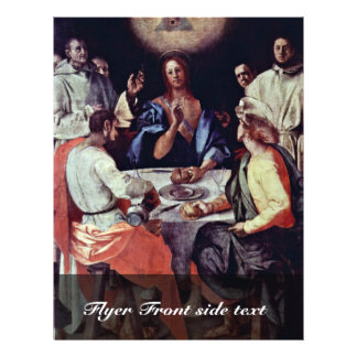 Supper At Emmaus By Pontormo Jacopo Flyer