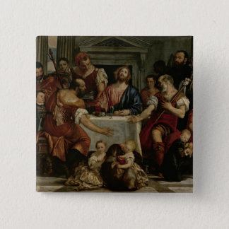 Supper at Emmaus (oil on canvas) 15 Cm Square Badge