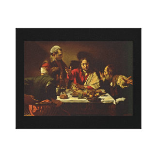 Supper at Emmaus with Friends Gallery Wrap Canvas