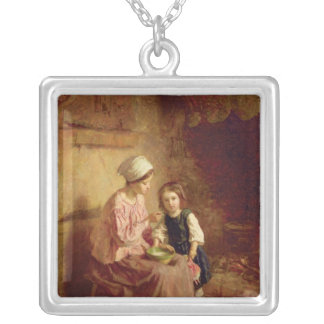 Supper Time Silver Plated Necklace