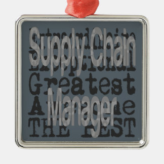 Supply Chain Manager Extraordinaire Silver-Colored Square Decoration