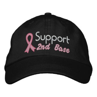Support 2nd Base - Breast Cancer Embroidered Hats