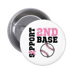 Support 2nd Base Sporty Breast Cancer Buttons