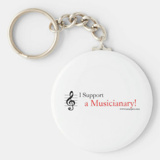 Support a Musicianary Basic Round Button Key Ring