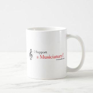 Support a Musicianary Basic White Mug