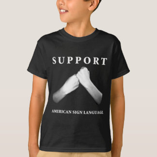 Support American Sign Language (front) (7) T-shirts