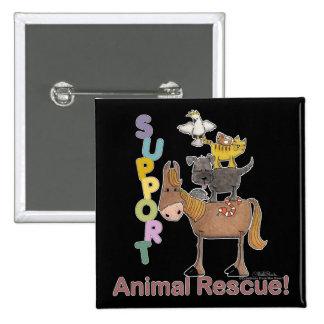 Support Animal Rescue 15 Cm Square Badge