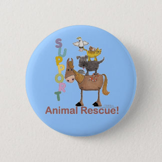 Support Animal Rescue 6 Cm Round Badge