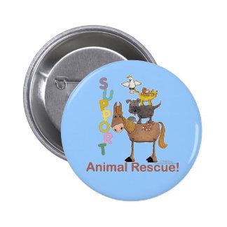 Support Animal Rescue 6 Cm Round Badge