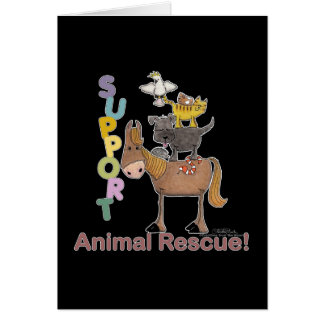 Support Animal Rescue Card