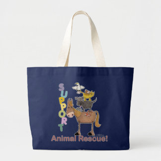 Support Animal Rescue Large Tote Bag