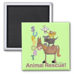 Support Animal Rescue Refrigerator Magnet