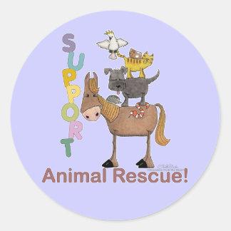 Support Animal Rescue Round Sticker