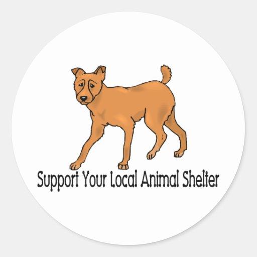 Support Animal Shelters Round Sticker