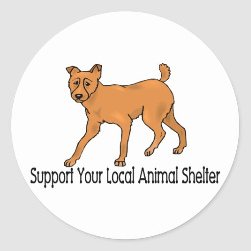 Support Animal Shelters Stickers