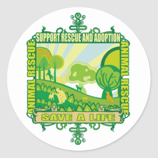 Support Animals Round Sticker
