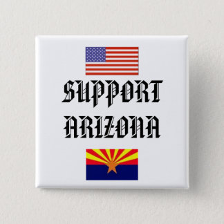 SUPPORT ARIZONA 15 CM SQUARE BADGE