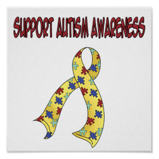 SUPPORT Autism Awareness Poster