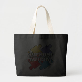 Support Autism Awareness Puzzle Pieces Tote Bag